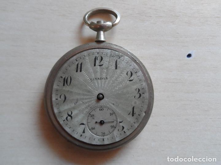 RELOJ DE BOLSILLO PRINCIPIOS SIGLO XX PARA PIEZAS - RECAMBIOS RELOJ - MAQUINARIA - LIVADIA (Relojes - Bolsillo Carga Manual)