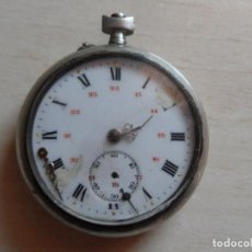 Relojes de bolsillo: RELOJ DE BOLSILLO PRINCIPIOS SIGLO XX - - PARA PIEZAS - - CAJA ARGENTAN - PLATA - MODERNISTA. Lote 75306935