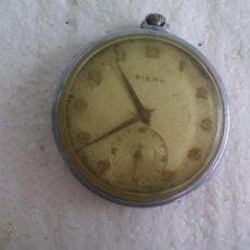 Relojes de bolsillo: RELOJ DE BOLSILLO SIERA. MADE IN SUIZA. 15 JEWELS. Lote 76555859