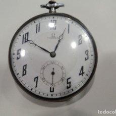 Relojes de bolsillo: RELOJ BOLSILLO OMEGA PLATA. Lote 76600527