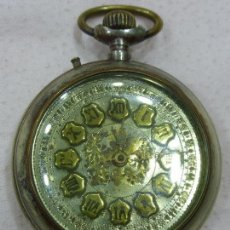 Relojes de bolsillo: ANTIGUO PRECIOSO GRAN RELOJ DE BOLSILLO MARCA CONSPIRADOR-SÓLIDA MAQUINARIA-FUNCIONA-ORIG. S. XIX-XX. Lote 76706703