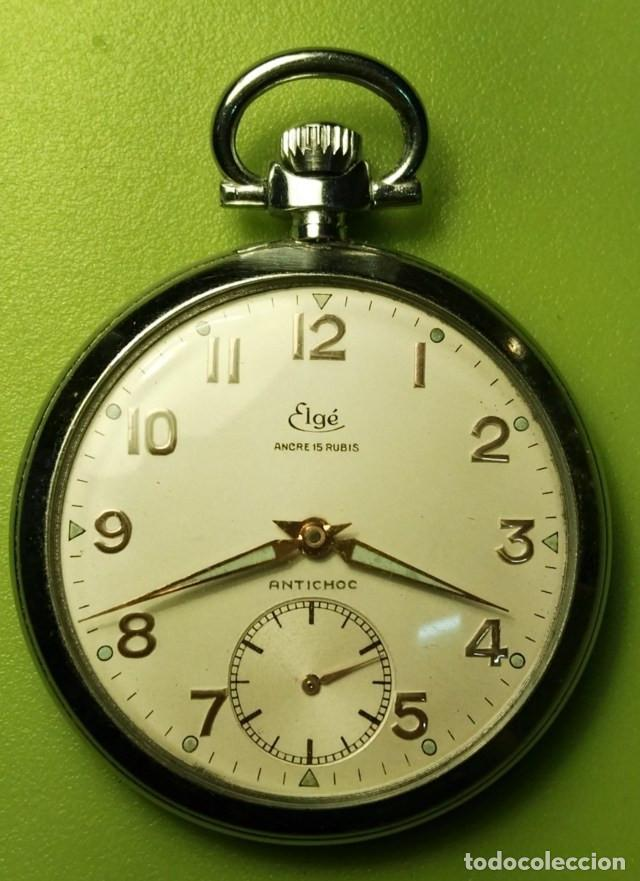 RELOJ DE BOLSILLO ELGÉ FUNCIONA PERFECTAMENTE (Relojes - Bolsillo Carga Manual)