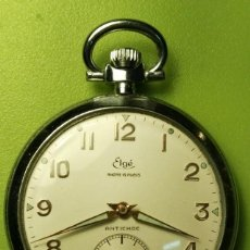 Relojes de bolsillo: RELOJ DE BOLSILLO ELGÉ FUNCIONA PERFECTAMENTE . Lote 76810827