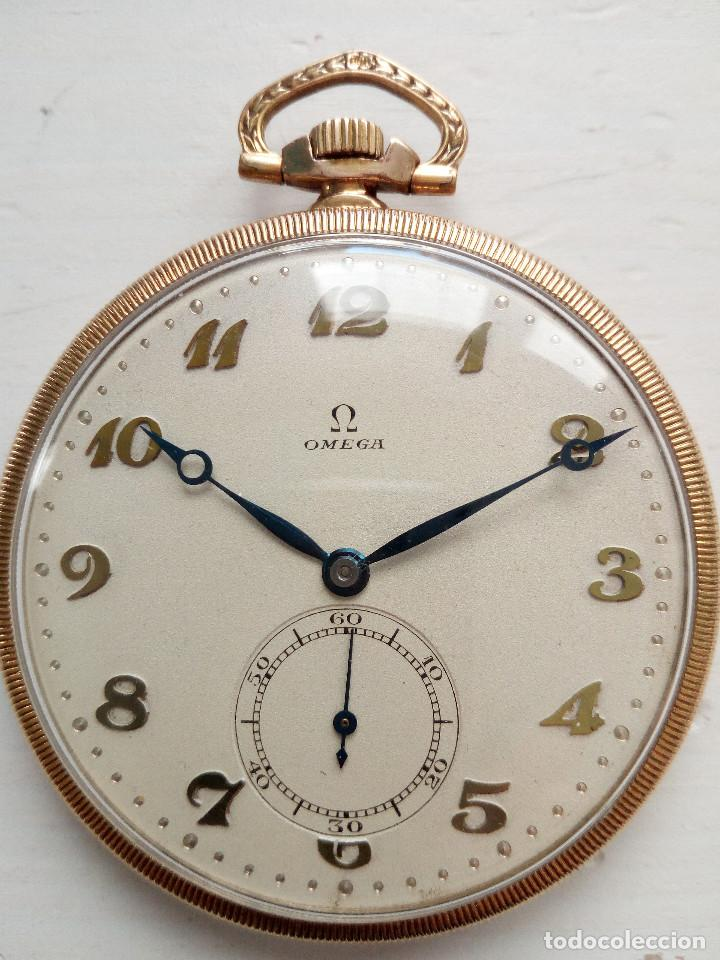 RELOJ DE BOLSILLO OMEGA CHAPADO EN ORO Y FUNCIONANDO PERFECTAMENTE. (Relojes - Bolsillo Carga Manual)