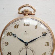 Relojes de bolsillo: RELOJ DE BOLSILLO OMEGA CHAPADO EN ORO Y FUNCIONANDO PERFECTAMENTE.. Lote 76949597