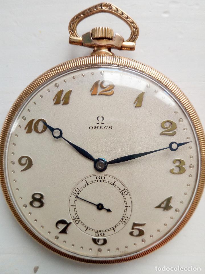 Relojes de bolsillo: Reloj de bolsillo Omega chapado en oro y funcionando perfectamente. - Foto 2 - 76949597