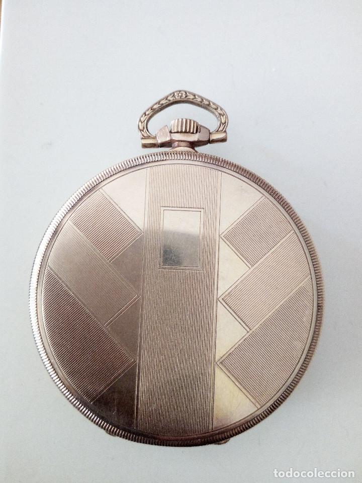 Relojes de bolsillo: Reloj de bolsillo Omega chapado en oro y funcionando perfectamente. - Foto 4 - 76949597