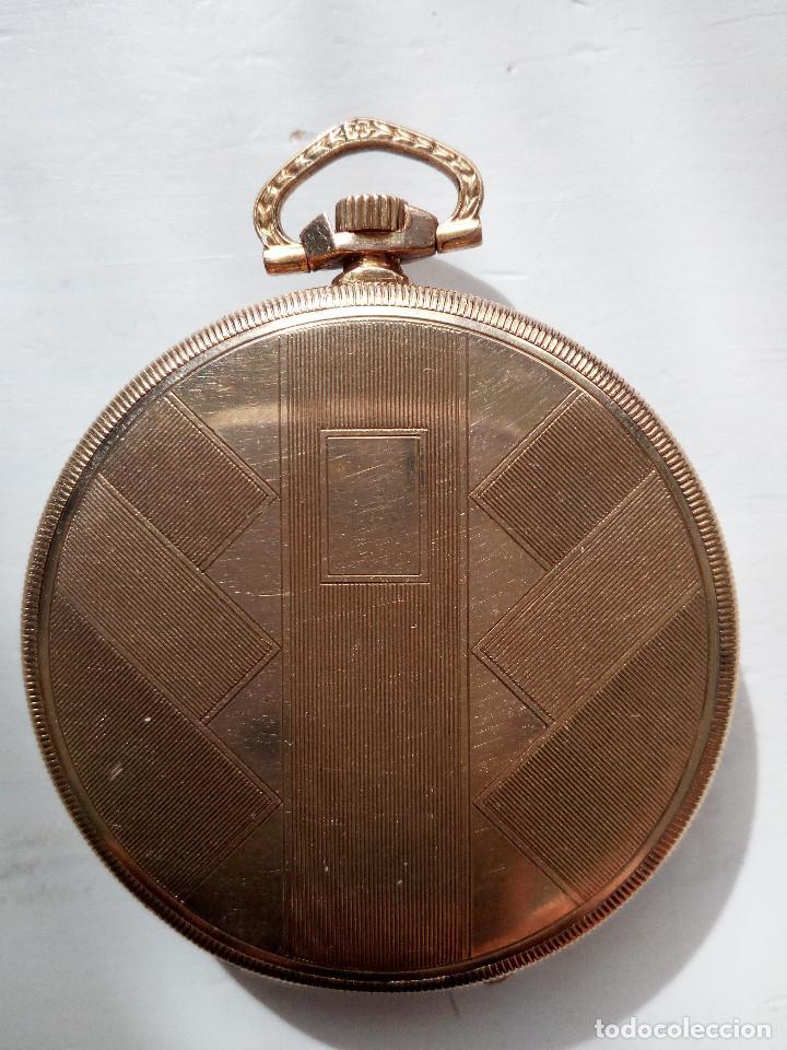 Relojes de bolsillo: Reloj de bolsillo Omega chapado en oro y funcionando perfectamente. - Foto 5 - 76949597