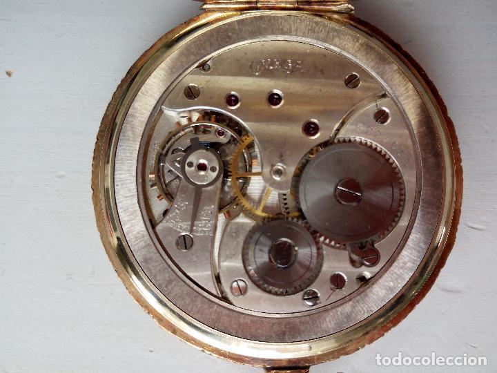 Relojes de bolsillo: Reloj de bolsillo Omega chapado en oro y funcionando perfectamente. - Foto 9 - 76949597