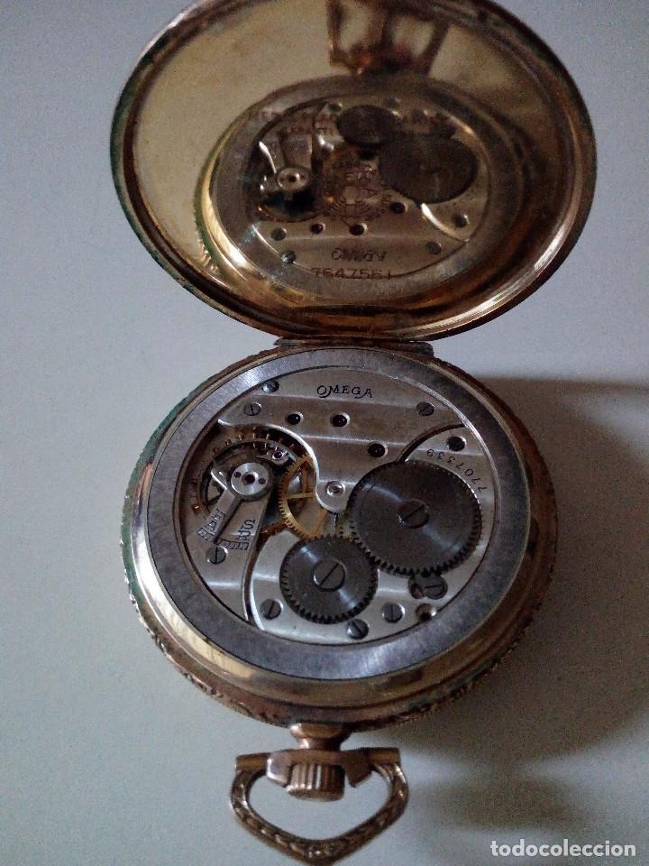 Relojes de bolsillo: Reloj de bolsillo Omega chapado en oro y funcionando perfectamente. - Foto 10 - 76949597
