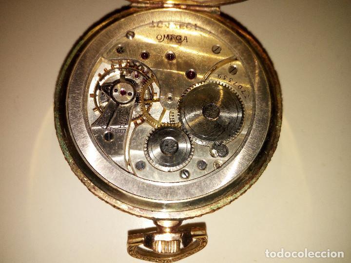 Relojes de bolsillo: Reloj de bolsillo Omega chapado en oro y funcionando perfectamente. - Foto 11 - 76949597