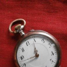 Relojes de bolsillo: ANTIGUO RELOJ SUIZO ALEMÁN DE BOLSILLO EN PLATA MECÁNICO A CUERDA MANUAL AÑO 1880 1900 Y FUNCIONA. Lote 77835685