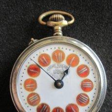 Relojes de bolsillo: ANTIGUO Y BONITO RELOJ SUIZO DE BOLSILLO. RAILWAY REGULADOR, SWISS MADE. FUNCIONA PERFECTAMENTE. Lote 79152085