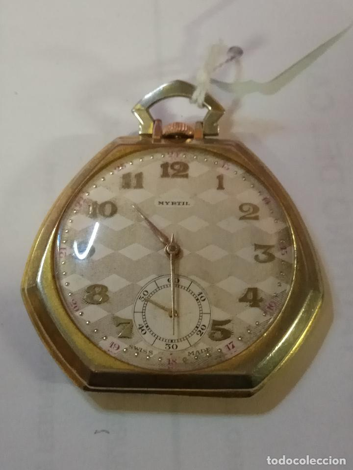 PRECIOSO Y ANTIGUO RELOJ DE BOLSILLO FUNCIONANDO BUENA MAQUINA (Relojes - Bolsillo Carga Manual)