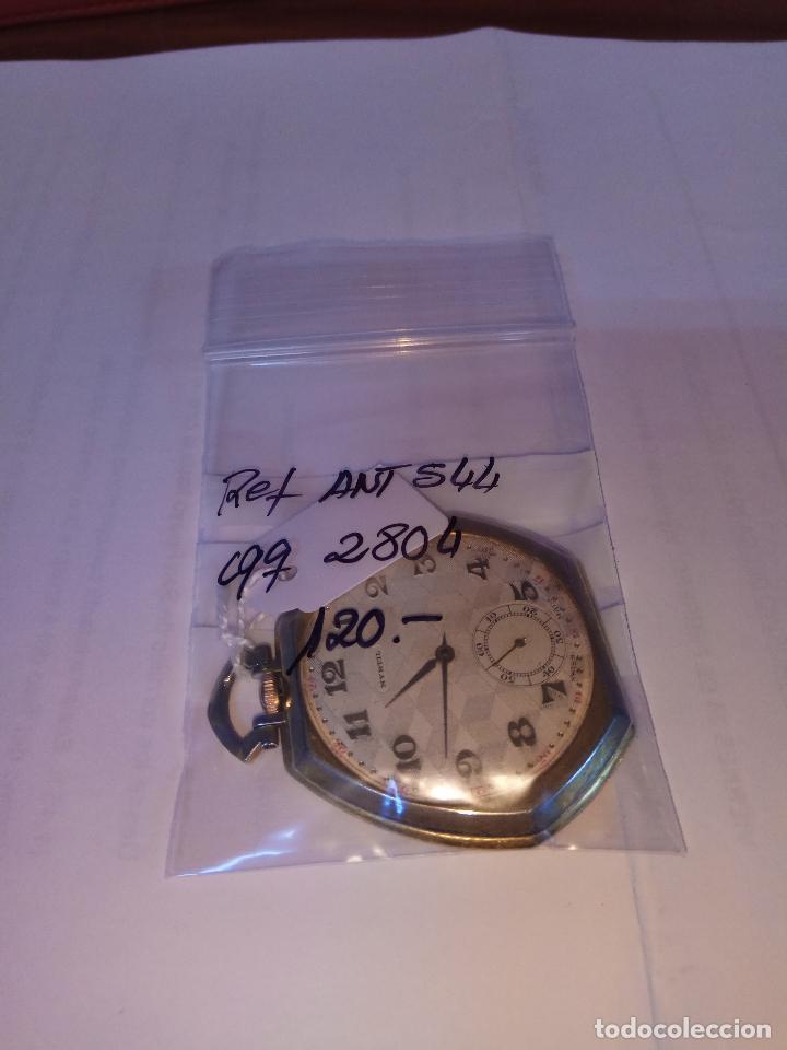 Relojes de bolsillo: PRECIOSO Y ANTIGUO RELOJ DE BOLSILLO FUNCIONANDO BUENA MAQUINA - Foto 11 - 79742617