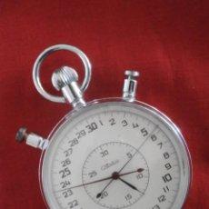 Relojes de bolsillo: ANTIGUO CRONÓMETRO MECÁNICO CUERDA DE PRECISIÓN SOVIÉTICO MARCA SLAVA UNIÓN SOVIÉTICA URSS RUSIA. Lote 79812409