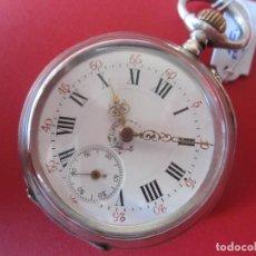 Relojes de bolsillo: RELON ANTIGUO CON CAJA DE PLATA MARCA JURA. Lote 79970001