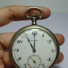 Relojes de bolsillo: RELOJ DE BOLSILLO. CARGA MANUAL. CYMA. ESFERA DE PORCELANA. CON SEGUNDERO. FUNCIONA.. Lote 130159548
