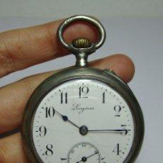 Relojes de bolsillo: RELOJ DE BOLSILLO. CARGA MANUAL. CON 3 TAPAS. LONGINES. FECHADO 1889.PLATA CON CONTRASTE. FUNCIONA.. Lote 80873379
