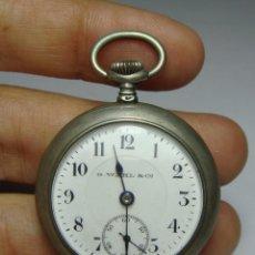 Relojes de bolsillo: RELOJ DE BOLSILLO O SABONETA. CARGA MANUAL. G. WAHL & CO. PLATA CON CONTRASTE. FUNCIONA.. Lote 80876987