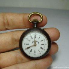 Relojes de bolsillo: RELOJ DE BOLSILLO O SABONETA. CARGA MANUAL. AGUJAS DE ORO. ESFERA DE PORCELANA. FUNCIONA.. Lote 80881143