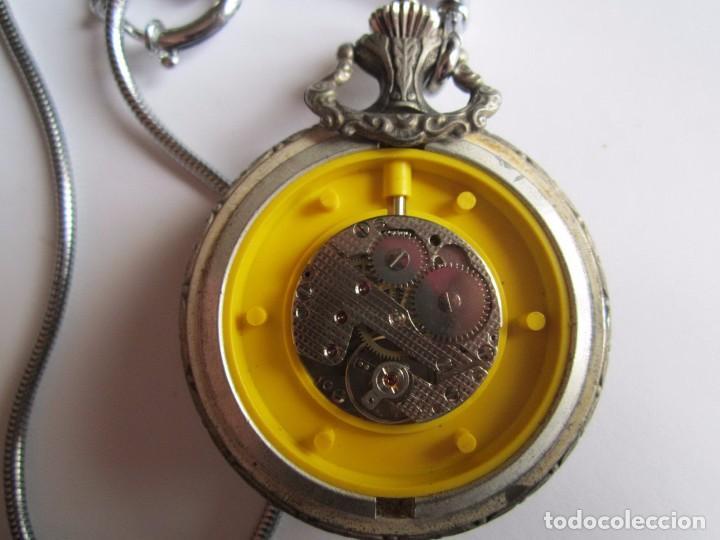 Relojes de bolsillo: RELOJ DE BOLSILLO FUNCIONANDO CAZADOR ZEITEN ANCORA 15 RUBIS MADE IN SUIZA 45MM. - Foto 4 - 81014712