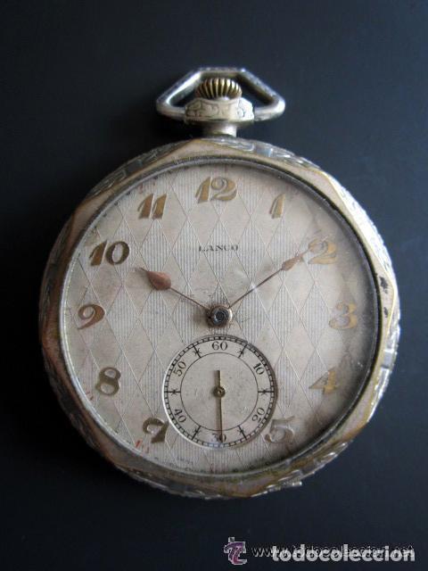 RELOJ DE BOLSILLO LANCO. MOVIMIENTO SUIZO. NUMEROS BREGUET. (Relojes - Bolsillo Carga Manual)