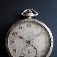 Relojes de bolsillo: RELOJ DE BOLSILLO LANCO. MOVIMIENTO SUIZO. NUMEROS BREGUET.. Lote 81602332