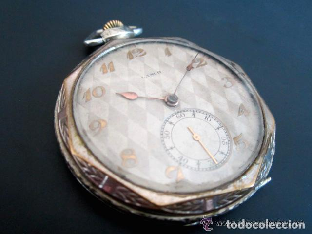 Relojes de bolsillo: RELOJ DE BOLSILLO LANCO. MOVIMIENTO SUIZO. NUMEROS BREGUET. - Foto 2 - 81602332