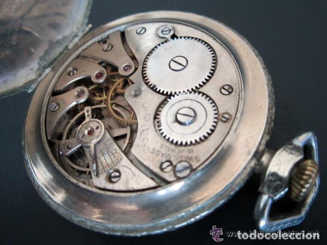 Relojes de bolsillo: RELOJ DE BOLSILLO LANCO. MOVIMIENTO SUIZO. NUMEROS BREGUET. - Foto 3 - 81602332