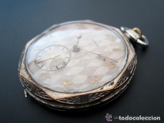 Relojes de bolsillo: RELOJ DE BOLSILLO LANCO. MOVIMIENTO SUIZO. NUMEROS BREGUET. - Foto 4 - 81602332