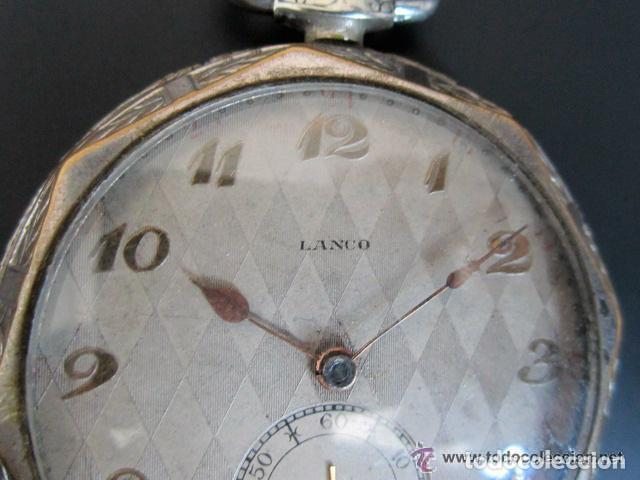 Relojes de bolsillo: RELOJ DE BOLSILLO LANCO. MOVIMIENTO SUIZO. NUMEROS BREGUET. - Foto 7 - 81602332