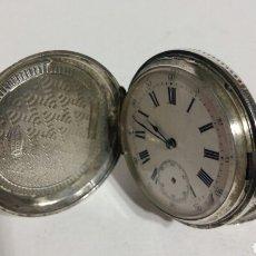Relojes de bolsillo: RELOJ SABONETA PLATA DE PAUL BOCH, GÉNOVA. CON TRES TAPAS. 15 RUBIS. Lote 82113950