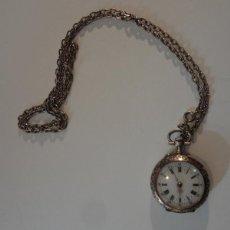 Relojes de bolsillo: RELOJ DE PLATA DE MUJER. Lote 82389146