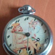 Relojes de bolsillo: RELOJ AUTÓMATA ERÓTICO DE BOLSILLO. FUNCIONA PERFECTAMENTE (VER FOTOS Y DESCRIPCIÓN). Lote 123573975
