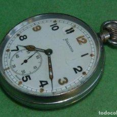 Relojes de bolsillo: BELLO RELOJ MILITAR HELVETIA 15 RUBIS AÑOS 40 CALIBRE 32A DUGENA 230 SWISS MADE 2ªWW MARCAJES GSTP. Lote 83880752