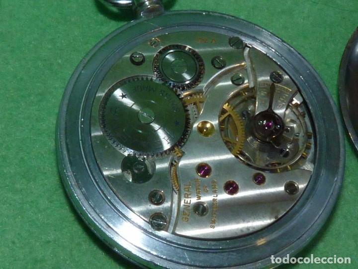 Relojes de bolsillo: Bello reloj militar HELVETIA 15 rubis años 40 calibre 32A Dugena 230 swiss made 2ªWW marcajes GSTP - Foto 5 - 83880752