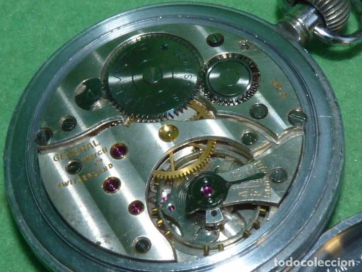 Relojes de bolsillo: Bello reloj militar HELVETIA 15 rubis años 40 calibre 32A Dugena 230 swiss made 2ªWW marcajes GSTP - Foto 6 - 83880752