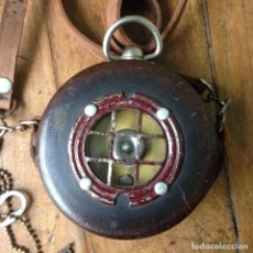 Relojes de bolsillo: RELOJ DE SERENO CON FUNDA CUERO. Lote 83934620