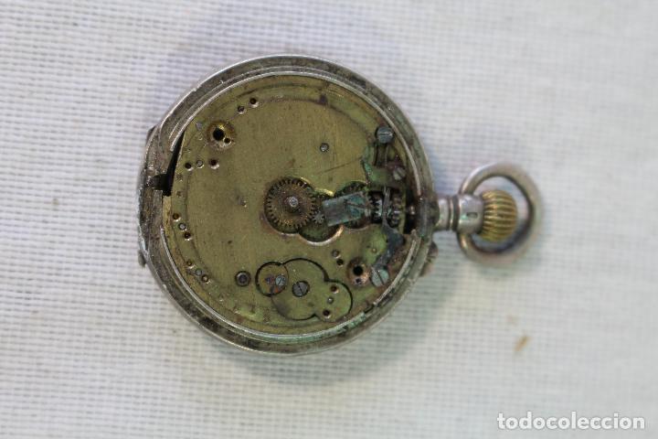 Relojes de bolsillo: RELOJ BOLSILLO EN PLATA DE LEY TRES TAPAS, CYLINDRE REMONTOIR 10 RUBIS. - Foto 3 - 85008276