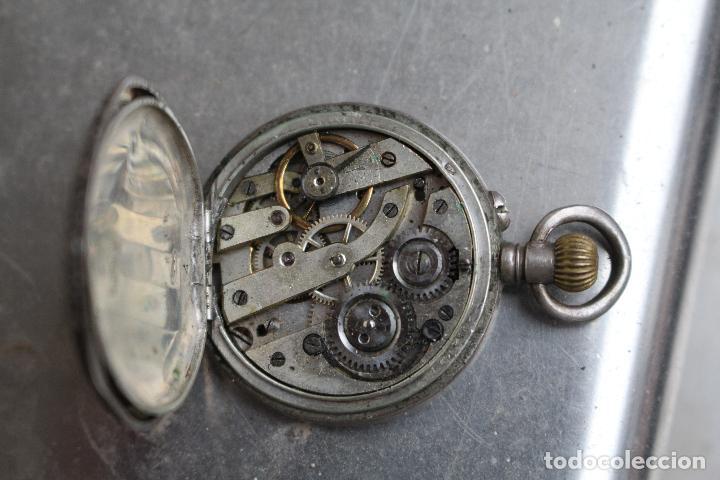 Relojes de bolsillo: RELOJ BOLSILLO EN PLATA DE LEY TRES TAPAS, CYLINDRE REMONTOIR 10 RUBIS. - Foto 6 - 85008276