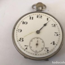 Relojes de bolsillo: RELOJ DE PLATA,PUNZONADOS INGLESES ESO CREO NO ANDA FALTA CRISTAL Y UNA AGUJA. Lote 85050292