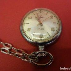 Relojes de bolsillo: ANTIGUO RELOJ DE BOLSILLO PEQUEÑO. MARCA RADIANT. FUNCIONANDO. REVERSO NOMBRE GRABADO. Lote 85544792