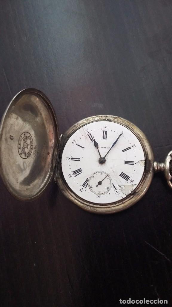 Antiguo Reloj De Bolsillo Longines De Plata De Comprar