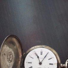 Relojes de bolsillo: ANTIGUO RELOJ DE BOLSILLO LONGINES DE PLATA DE 1912. Lote 86184976