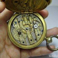 Relojes de bolsillo: RELOJ DE BOLSILLO DE LLAVE. CON 3 TAPAS. PRECIOSA MAQUINARIA TRABAJADA. BAÑO DE ORO. GIRARD - GENEVE. Lote 86671720