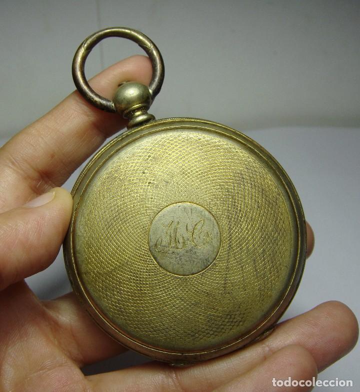 Relojes de bolsillo: Reloj de Bolsillo de llave. Con 3 tapas. Preciosa maquinaria trabajada. Baño de Oro. GIRARD - GENEVE - Foto 2 - 86671720