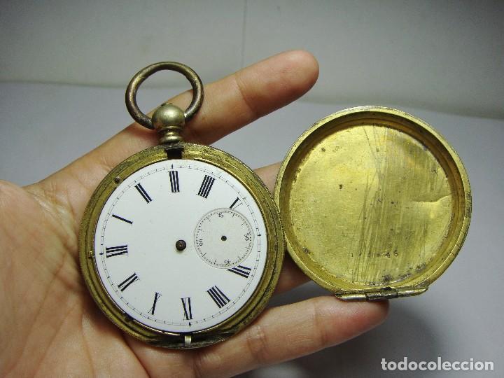 Relojes de bolsillo: Reloj de Bolsillo de llave. Con 3 tapas. Preciosa maquinaria trabajada. Baño de Oro. GIRARD - GENEVE - Foto 3 - 86671720