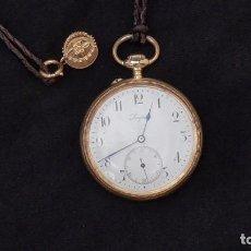 Relojes de bolsillo: RELOJ LONGINES ORO 18 K. FUNCIONA PERFECTAMENTE. Lote 94630740