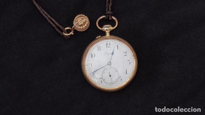 Relojes de bolsillo: RELOJ LONGINES ORO 18 K. FUNCIONA PERFECTAMENTE - Foto 2 - 94630740